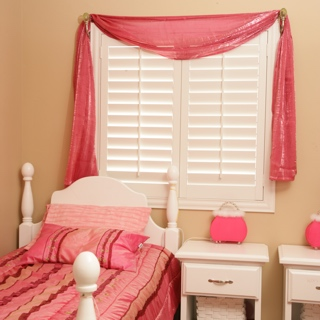 Plantation shutters bedroom