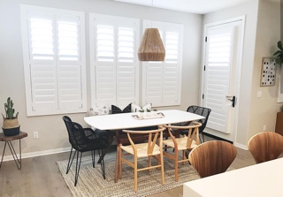 Plantation shutters dining room