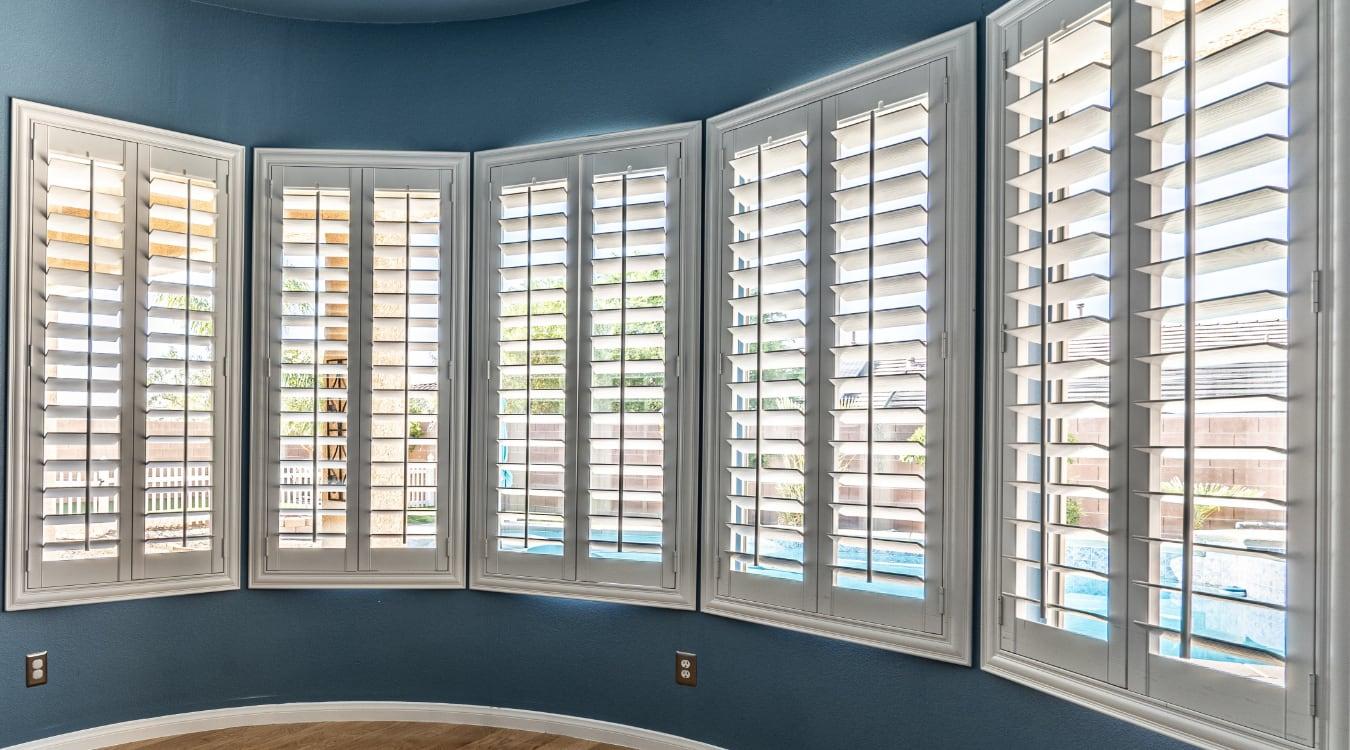 The Best Window Treatments For Bay Windows Sunburst Shutters