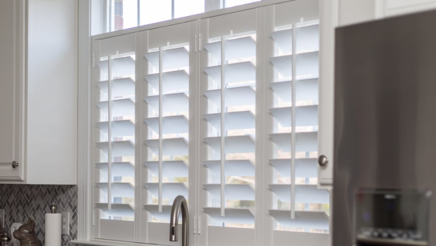 Plantation shutters window treatments