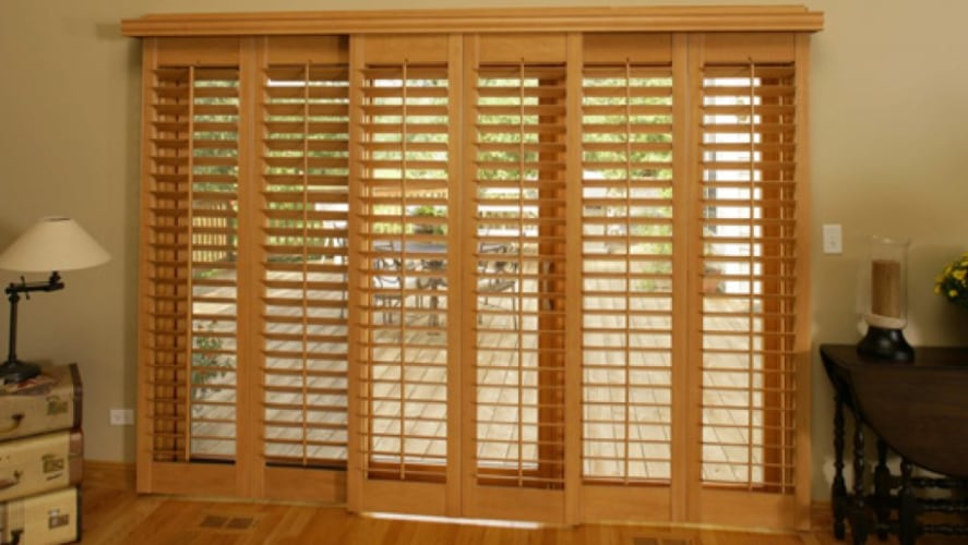 Ovation window treatments on a patio door