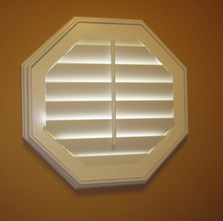 Custom made octagon shutters
