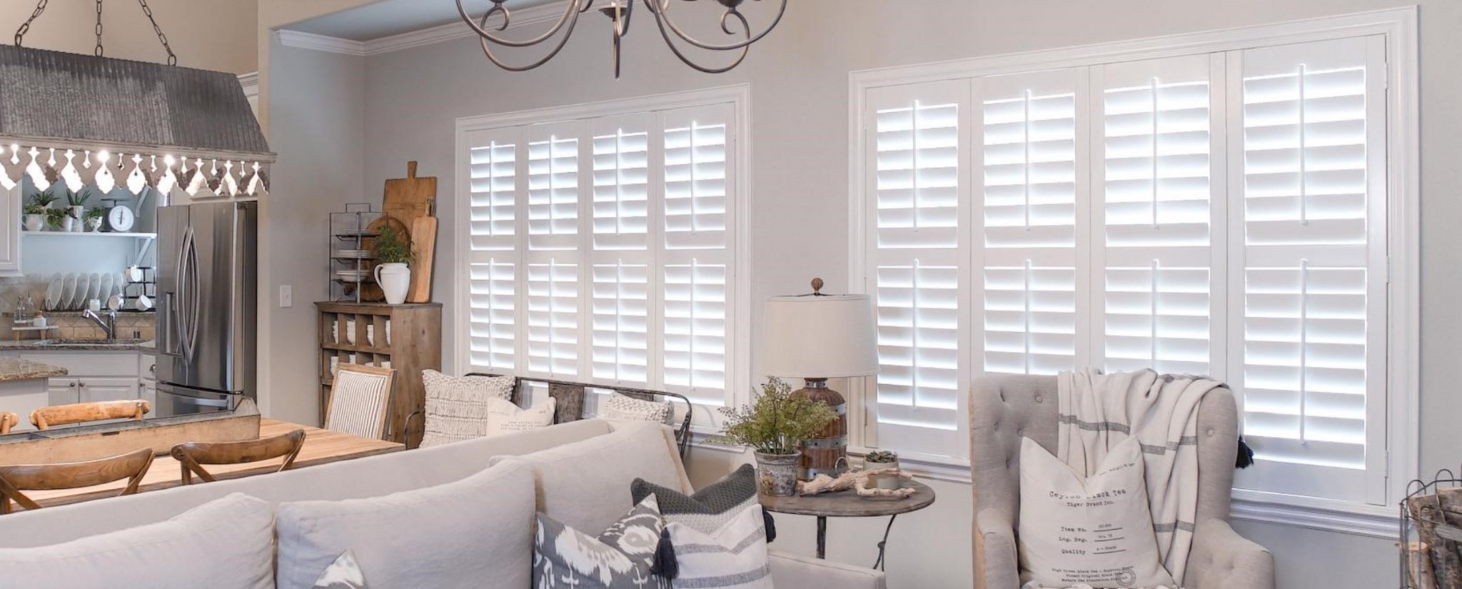Kids bedroom with plantation shutters