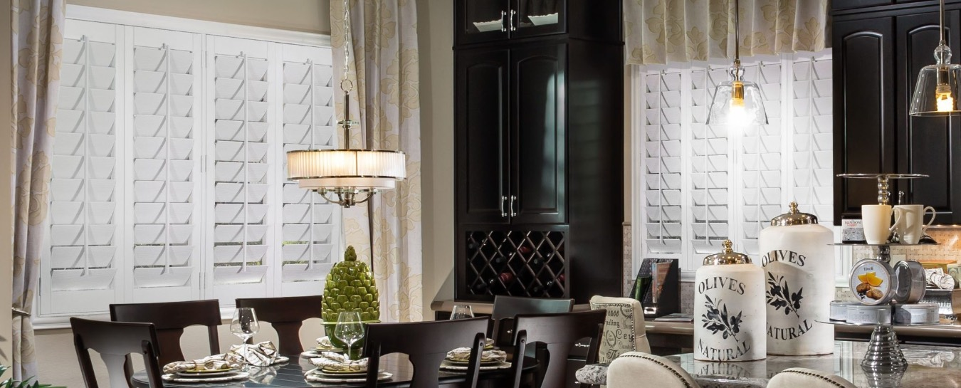 Modern kitchen with shutters