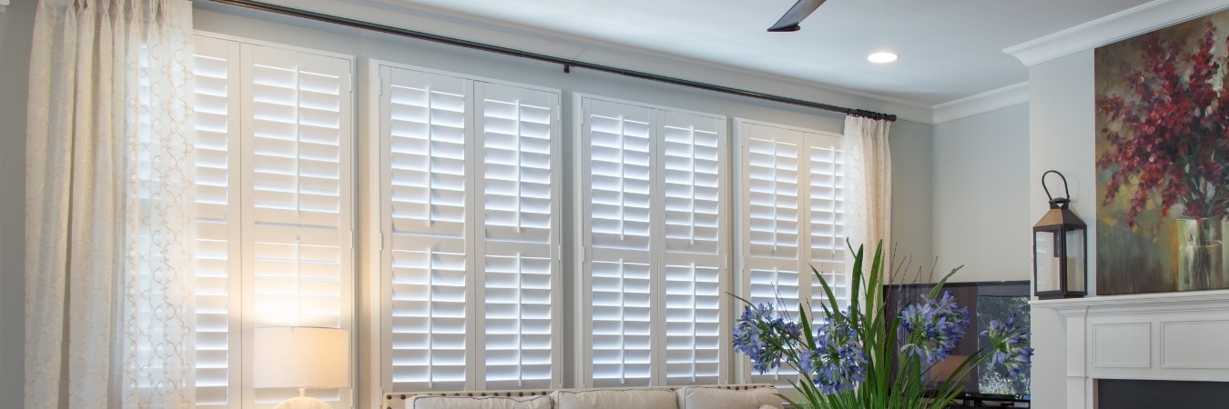 Polywood shutters in living room