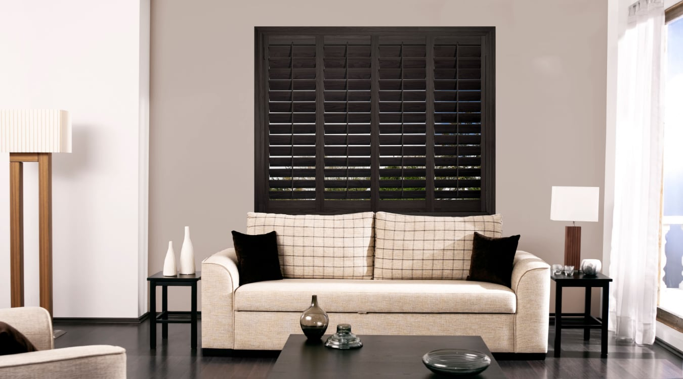 Living room with ovation shutters