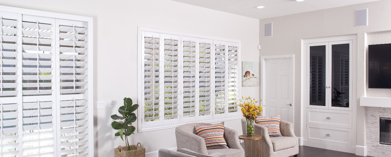 Polywood shutters in a great room