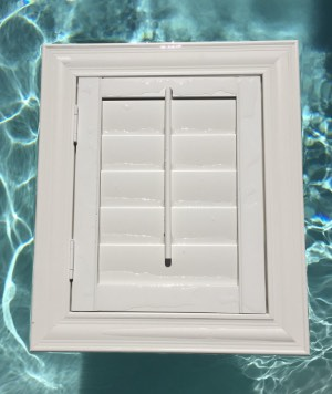 Polywood shutters in water