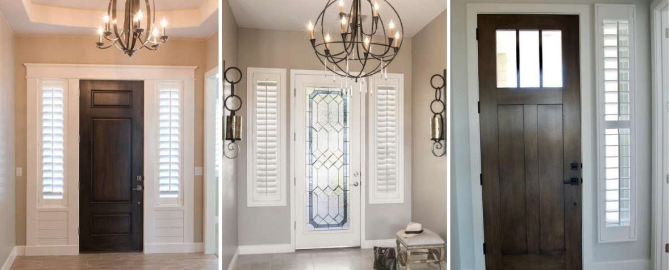 Sidelight shutters and entryways
