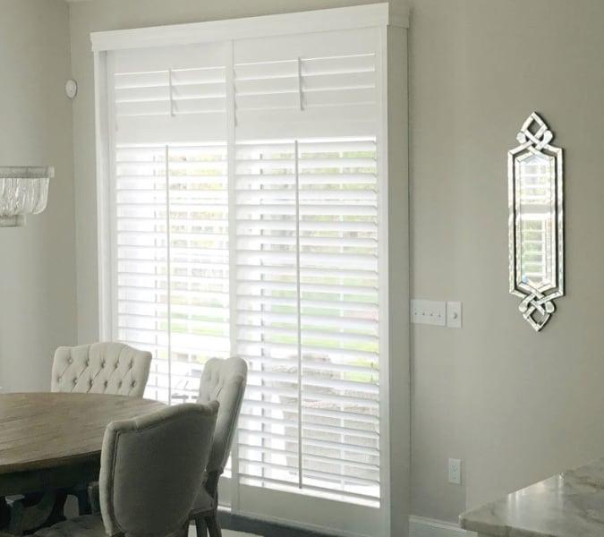 The Best Window Treatments To Cover A Sliding Glass Door Sunburst Shutters