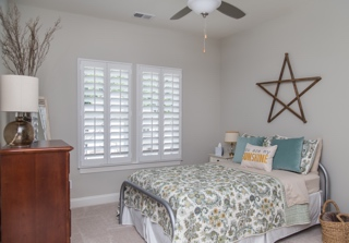 Teen's room with Plantation shutters