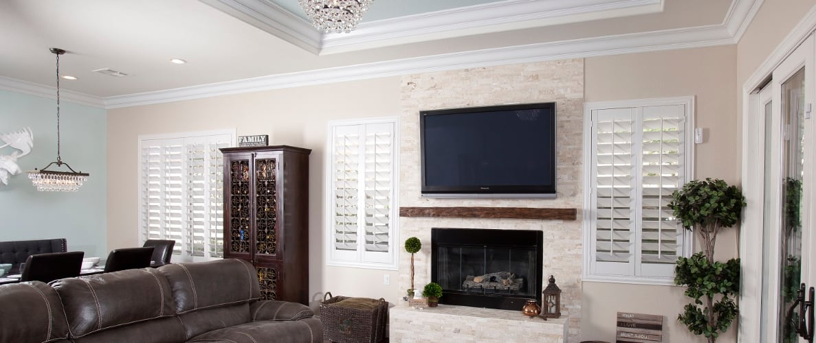 Window treatments in a family room
